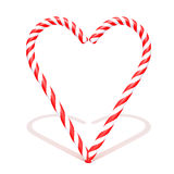 Candy cane isolated on a white background 3d illustration. Over white background Stock Photography