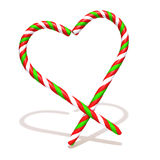 Candy cane isolated on a white background 3d illustration. Over white background Royalty Free Stock Photos