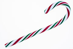Candy cane isolated on a white background. Royalty Free Stock Photo