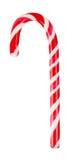 Candy cane isolated on white. Christmas decoration. Traditional holiday candy cane isolated on white. Red and white stripy candy cane isolated on a white stock image