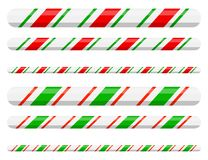 Candy cane line border divider for christmas design on. White background vector illustration