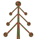 Candy cane-lollipop christmas tree Stock Images