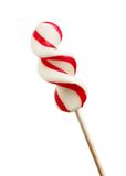 Candy cane lollipop. Isolated on white background royalty free stock photography