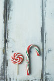 Candy cane and lollipop Royalty Free Stock Photo