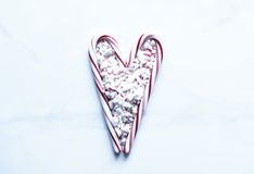 Candy cane love Royalty Free Stock Image