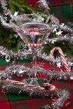 Candy Cane Martini Royalty Free Stock Images