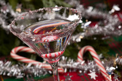 Candy Cane Martini Stock Image
