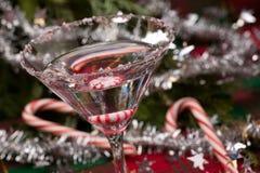 Candy Cane Martini Stock Image