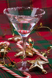 Candy Cane Martini Royalty Free Stock Image