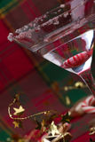 Candy Cane Martini Stock Photography