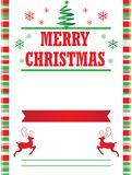 Candy Cane Merry Christmas Poster Template. For posters, flyers, and invitations Royalty Free Stock Photo
