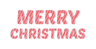 Candy cane merry christmas red and white colours. Candy cane merry christmas red and white colours royalty free illustration