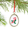 Candy Cane Needlepoint Ornamen Royalty Free Stock Photo