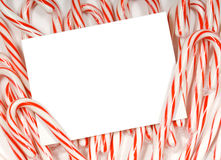Candy cane notecard Royalty Free Stock Photos