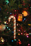 Candy cane ornament. Candy cane Christmas holiday ornament Royalty Free Stock Photos