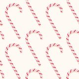 Candy cane pattern. Sweet holiday vector candy cane seamless pattern Stock Photo