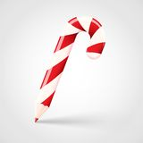 Candy Cane Pencil Abstract Vector Christmas Immagine Stock