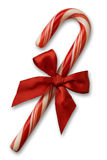 Candy cane with red bow Stock Image