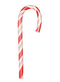 Candy cane. Red and White candy cane in front view. Christmas decoration.No shadow. 3d generated royalty free illustration