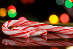 Candy Cane Reflections Royalty Free Stock Photography