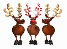 Candy Cane Reindeer Fotografia Stock