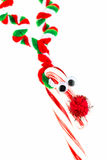Candy cane reindeer Stock Images