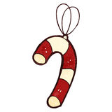 candy cane retro cartoon christmas decoration Stock Image