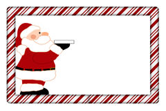 Candy Cane with Santa Frame Royalty Free Stock Photos