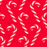 Candy cane seamless pattern Royalty Free Stock Photos