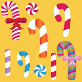 Candy Cane Set vector illustration