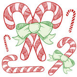 Candy cane sketch illustration Stock Photo