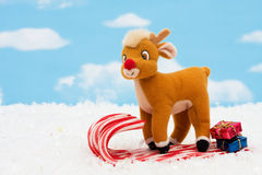 Candy Cane Sleigh Stock Image