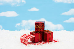 Candy Cane Sleigh Royalty Free Stock Image