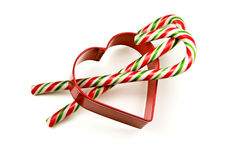 Candy Cane Stick in Love Stock Images