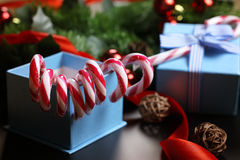 Candy cane stick new year Stock Image