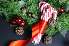 Candy cane stick Stock Images
