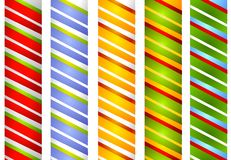 Candy Cane Stripe Borders 2 Royalty Free Stock Image