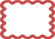 Candy cane striped border Royalty Free Stock Photography