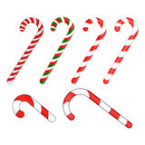 Candy cane striped in Christmas colours. Vector illustration isolated on a white background. Stock Image
