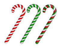 Candy cane striped in Christmas colours. Vector illustration on a white background. Candy cane striped in Christmas colours. Vector illustration on a white vector illustration