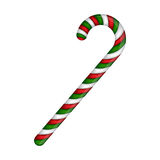 Candy cane striped in Christmas colours. Vector illustration  on a white background. Royalty Free Stock Image