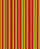 Candy Cane Stripes Xmas Background 2. A background pattern featuring rows of candy cane stripes in classic red, green, gold and white colors Stock Photos