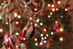 Candy Cane Tree Ornament Stock Images