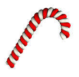 Candy cane on white background Stock Photos