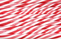 Candy canes. Red and white candy cane background stock image