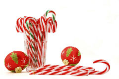 Candy canes. In a glass Royalty Free Stock Image