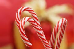 Candy canes. Some  candy canes for Christmas time Stock Photo