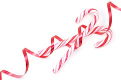 Candy Canes. Christimas candy canes isolated on a white background Stock Image