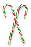 Candy canes. Two candy canes on isolated background Stock Images