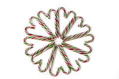 Candy Canes. Arrange in a circular manner Stock Image